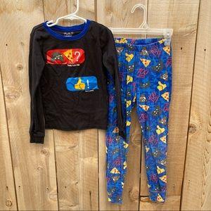Place boys size 7 emoji long sleeve pajama set